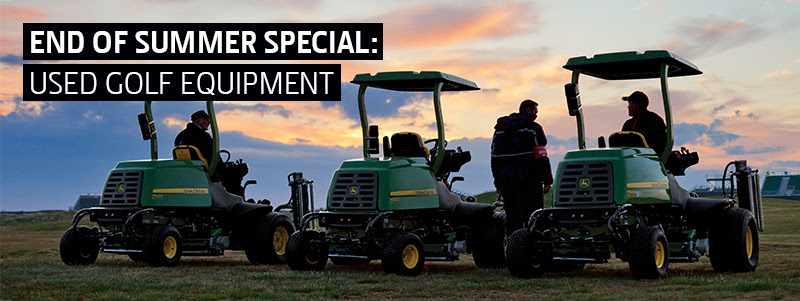 End of Summer Used Golf Specials