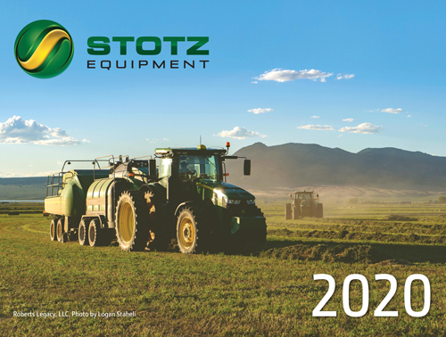 Image of 2020 Calendar Cover Featuring a 7-series tractor