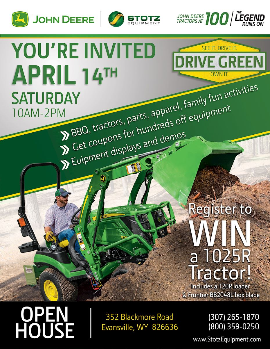 Casper Wy Stotz Equipment Drive Green and Open House Event