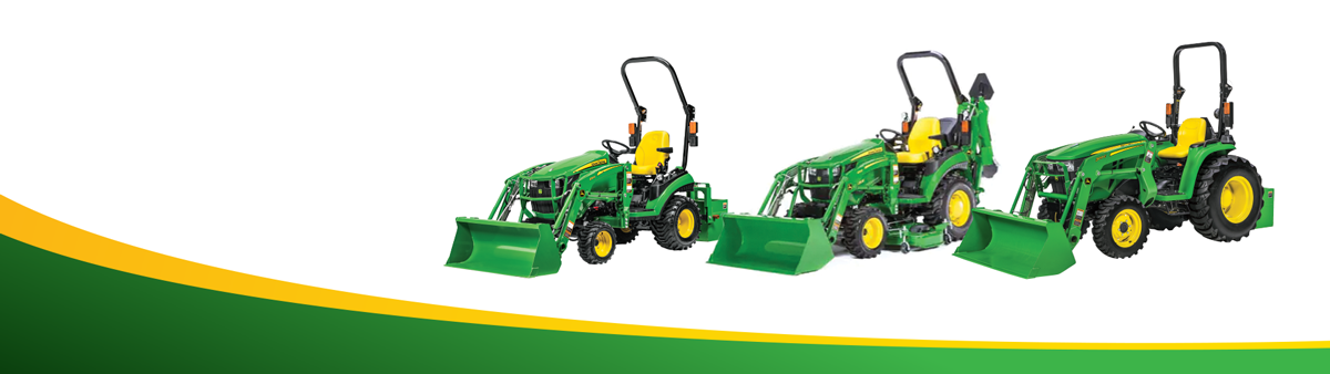 Image of three small tractors