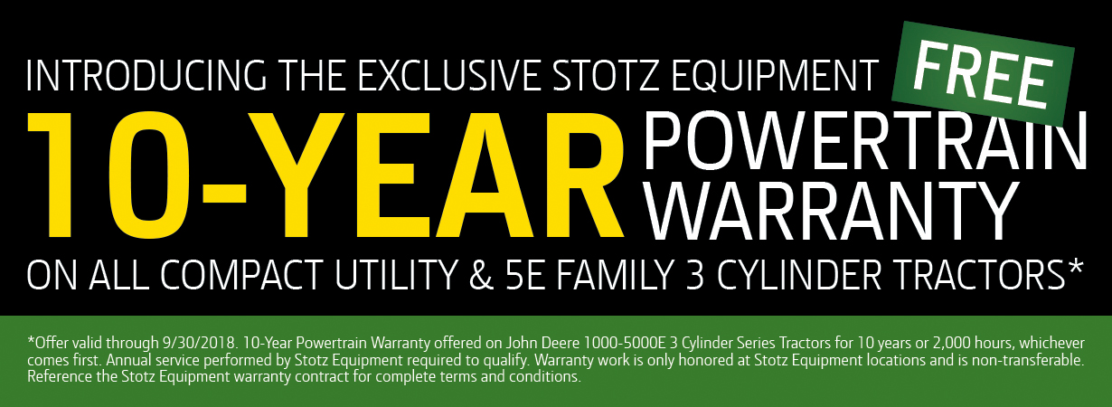 Stotz Equipment 10-Year Powertrain Warranty